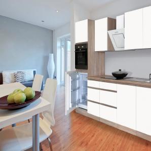 Respekta Küchenzeile mit E-Geräten »Boston«, Breite 270 cm