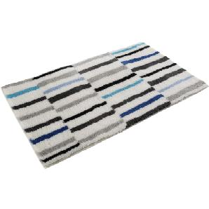 Badteppich Riverside - Kunstfaser - Weiß / Blau - 70 x 120 cm, Esprit Home
