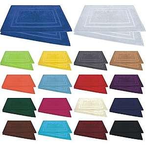 Duschvorleger / Badematten / Badvorleger - 2er Pack - Baumwolle 800g/m² - 50x80 cm - Farbe Bordeaux