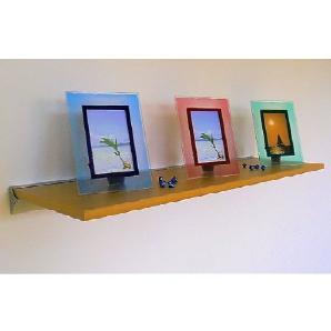Wand Regal Pure 100x30 echt Holz furniert buche + Alu Wandschiene Wandboard