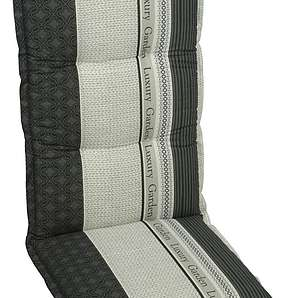 : Sesselauflage, Anthrazit, Creme, Schwarz, Weiß, B/H/T 50 120 8