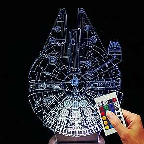 Star Wars Dekolampe Millenium Falke (3D-Hologramm Illusion)