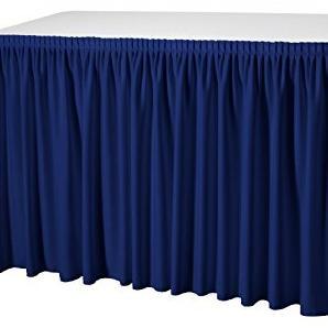 Skirting Plissé President Tischskirtings für 410 bis 580 cm Tischumfang, Farbe:marineblau;Maße:580x73 cm