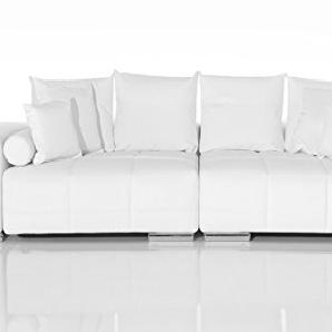 Couch Marbeya Weiss 285x115 cm Big-Sofa Couchgarnitur