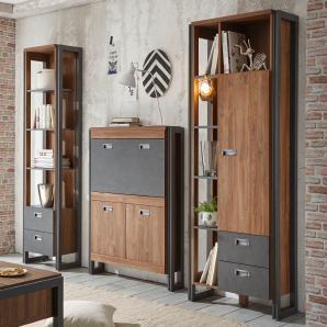 Büromöbel Stirling Oak/ Applikation Matera Imv Detroit Eiche Holz Modern