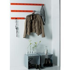 Garderobenleiste möbel »Straight 7 Haken«, rot, JANKURTZ