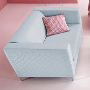 INOSIGN 2-Sitzer mit Steppung blau, FSC®-zertifiziert