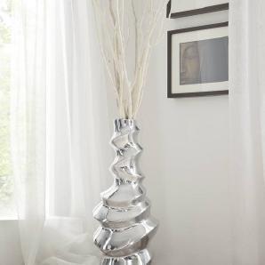 Vase 26x25x70 Silber SPECIALDEKO #107