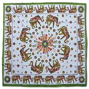 Batik Wandtuch 2200x2400mm Decke Strandtuch Elefanten Indien