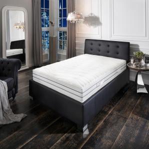 Schlaf-gut Komfortschaummatratze »Prestige De Luxe 23 S - Premium-Natur«, 80x200 cm, Abnehmbarer Bezug, Ca. 23 cm hoch, weiß, 101-120 kg