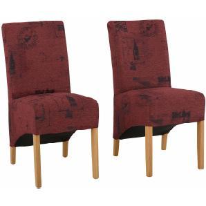 Home affaire Stuhl rot, 6er Set, »Melissa«, FSC®-zertifiziert