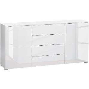 Sideboard Larado - Hochglanz Weiß / Weiß, Fredriks