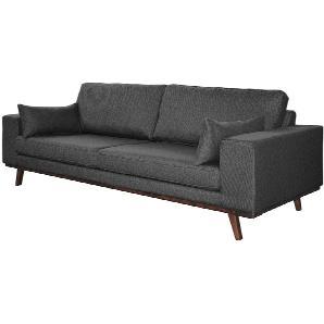 Sofa Billund (3-Sitzer) Strukturstoff - Grau, Morteens