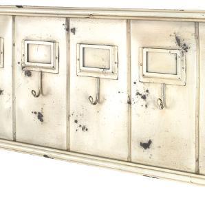 Garderobenleiste Klara - Metall - Vintage Weiß, Home Design