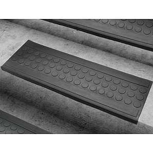 Stufenmatten aus Gummi - 25x75cm - rutschhemmend, für Innen- und Außentreppen