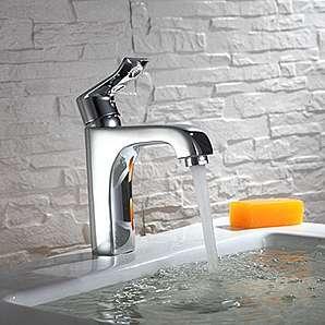 European Bronze Waschbecken Waschbecken Badezimmer Schrank Jade leaf unter heiß und kalt Hahn Single Handle Single Hole Tap