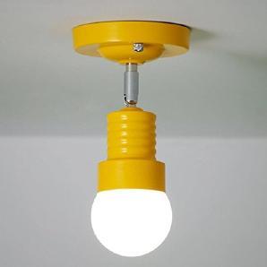 XIAOJIA American Style einfach Eisen Lampe Modern kreative Restaurant Cafe Gang am Krankenbett drehbaren Wandbeleuchtung , yellow