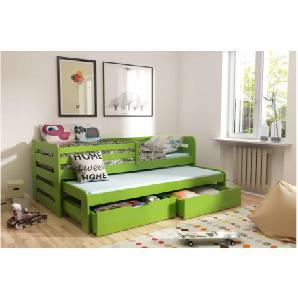 JUSTyou KOBI I Jugendbett Kinderbett Funktionsbett 192x95,5x69 cm Grün