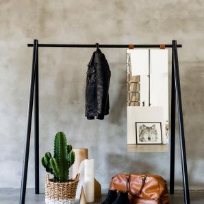 KARUP Karup Kleiderständer mit Spiegel, schwarz, Breite 150cm »Hongi«, FSC®-zertifiziert