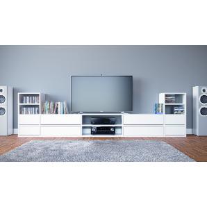 TV Lowboard Weiß, MDF, 303 x 80 x 35