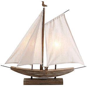Dekoleuchte Segelboot MAILORD braun