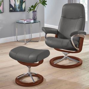 Stressless® Set: Relaxsessel mit Hocker »Garda« mit Signature Base, Größe M, mit Schlaffunktion