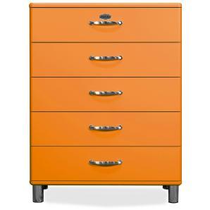 Kommode Orange Tenzo Ubilam Holz Retro