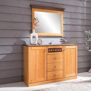 Home affaire Kommode mit Softclose-Funktion »Romantika«, gelb, FSC®-zertifiziert