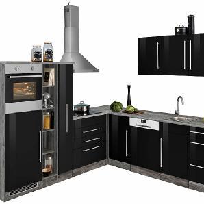 winkelk chen in schwarz online vergleichen m bel 24. Black Bedroom Furniture Sets. Home Design Ideas