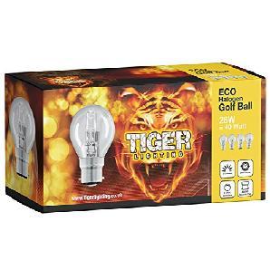 8PACK 28W G45(BC) Bajonettsockel (B22) Eco Halogen dimmbar Golf Ball/Mini Globe Leuchtmittel, 28Watt Äquivalent zu 40Watt, 2000Stunden Lange Lebensdauer Halogen-Leuchtmittel, 370Lumen Ausgang.
