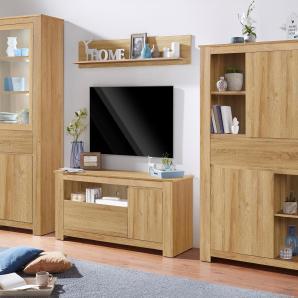 Wohnwand  »Corina« beige, FSC®-zertifiziert, natur