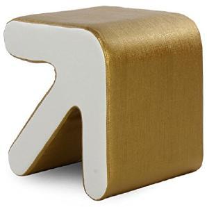 MNII Kreativ Holz Pfeilhocker Sofa Hocker Bettende Hocker Niedriger Stuhl Wechselnde Schuhe Hocker Haushalt Klein 33 * 33 * 31cm (groß 40 * 40 * 36cm) , pu skin inside white outside gold - trumpet- Schöne Möbel
