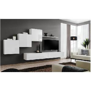 JUSTyou SWOTCH X Wohnwand Anbauwand Schrank Einzelschrankwand 160x330x40 Weiß