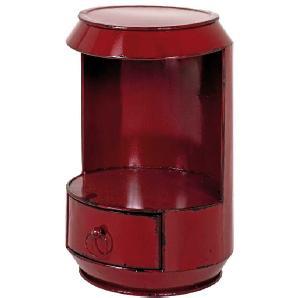 Beistelltisch in Rot Metall