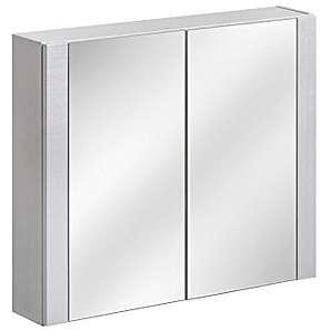 VIENTO TERRA 841 Badschrank, MDF Platte, weiß glossy, 16 x 80 x 69 cm