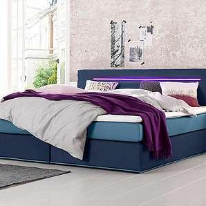 boxspringbetten in blau online vergleichen m bel 24. Black Bedroom Furniture Sets. Home Design Ideas