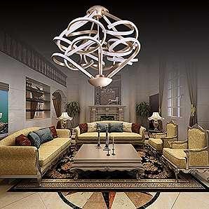 Lonfenner Großhandel Wohnzimmer Schlafzimmer, moderne Persönlichkeit kreative einfache Büro LED Leuchter Leuchter 15 cm