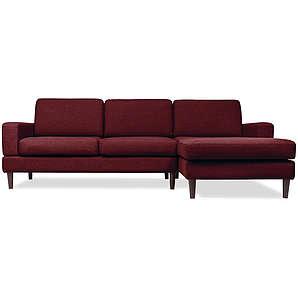 Sofa mit Chaiselongue Manfredo - Rot-burgunder