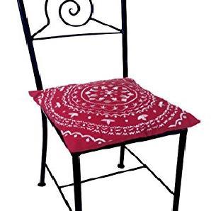 Marokkanischer Mediterraner Eisenstuhl Gartenstuhl Balkonstuhl Metall Stuhl  Handgeschmiedet Navarra   Inklusive Stuhlkissen.