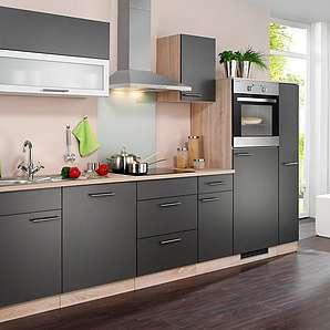 Wiho Küchen Küchenzeile »Montana«, mit Elektrogeräten, Breite 300 cm