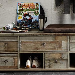 Garderobenbank Driftwood Mit Sitzkissen Innostyle Bonanza Braun Holz Vintage
