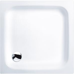 Sanicomfort Acryl-Flach-Duschwanne Luxor 80 cm x 80 cm x 6,5 cm Weiß