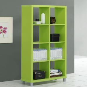 Regal Salima 22, Farbe: Grün - Abmessungen: 153 x 76 x 29 cm (H x B x T)