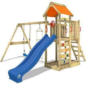 spielturme fur kleine eroberer moebel24 With französischer balkon mit wickey multiflyer spielturm kletterturm doppelschaukel holzdach spielhaus garten