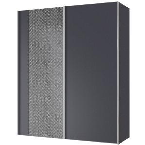 Schwebetürenschrank Cando - Grau / Graphit - 150 cm (2-türig), Express Möbel