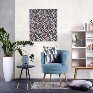 Wandbild - Deko - Wanddeko - Wanddekoration - Teakholz - 84x84 cm - ENVI MULTICOLOR