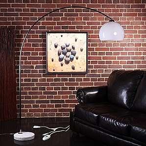 BIG BOW RETRO DESIGN LAMPE mit Dimmer von XTRADEFACTORY lounge stehlampe bogenlampe weiss