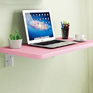 ERRU- Wandtisch Schreibtisch Faltende Studenten Computer Schreibtisch Wand-Massivholz Küche Esstisch(Farbe: Rosa, Größe wahlweise freigestellt) ( größe : 100*60cm )