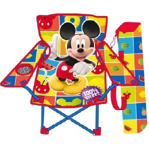 Kinder Campingstuhl AUSWAHL Spiderman Hello Kitty Minnie Maus Klappstuhl Stuhl Sessel Gartenstuhl (Micky Maus)