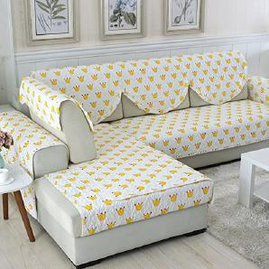 FEIZIFour seasons cotton sofa matte,anti-slip fabric pure wood fresh einfach modern living zimmer drei-personen sofa mat-B 90x90cm(35x35inch)